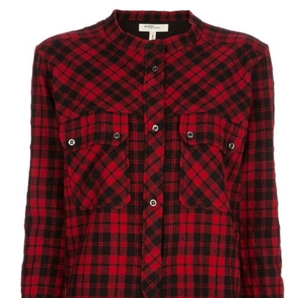 Isabel Marant étoile Check Shirt Red Wool Blend